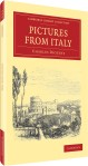 3D front cover of Pictures from Italy by Charles Dickens