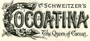 The label from a tin of cocoatina, 1890