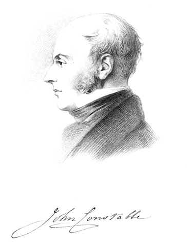 Leslie's sketch of Constable, from the biography