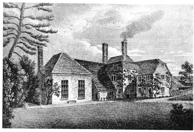 Gilbert White's house, 'The Wakes', from the garden